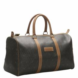 Dior Brown Honeycomb Coated Canvas Travel Bag 353572