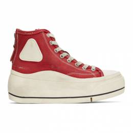 R13 Red Distressed High-Top Sneakers R13S5029-003