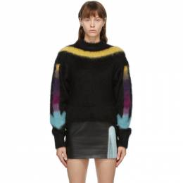 Off-White Black and Multicolor Alpaca Sweater OWHE036E20KNI0011084