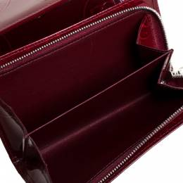 Cartier Red Patent Leather Happy Birthday Bifold Wallet 357402