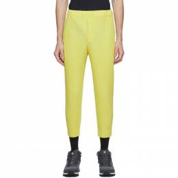 Homme Plisse Issey Miyake Yellow Pleated MC June Trousers HP08JF103