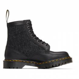Dr. Martens Black Made In England Harris Tweed Edition 1460 Boots 26071001