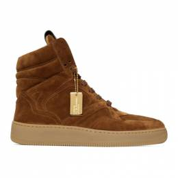 Brown Suede Mongoose Sneakers UI20GF0200X1C7 Human Recreational Services