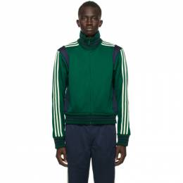 Green and Navy adidas Originals Edition Lovers Track Jacket GL5184 Wales Bonner