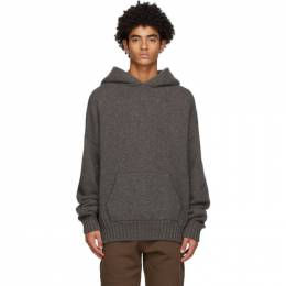 Fear Of God Grey Brushed Knit Hoodie FG20-002WSK