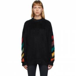 Off-White Black Brushed Diag Sweater OMHA036E20KNI0011087
