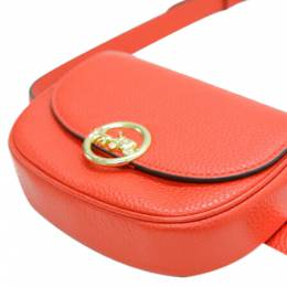 Coach Orange Leather Kat Saddle Waist Bag 360326