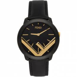 Fendi Black and Gold Run Away F is Fendi Watch F712111011