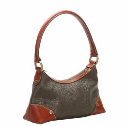 Mulberry Gray/Brown Leather Shoulder Bag 358849