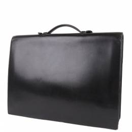 Hermes Black Leather Sac a Depeches 41 Briefcases 352782