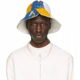 White The Magpie Project Edition Recycled Bell Tent Bucket Hat BWAW20050 Bethany Williams