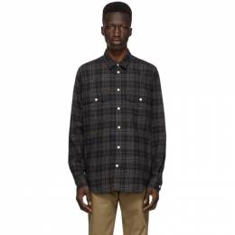 Norse Projects Navy Flannel Check Villads Shirt N40-0541