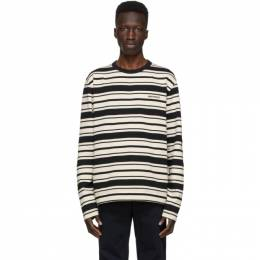 Norse Projects Black and White Stripe Holger Long Sleeve T-Shirt N10-0168