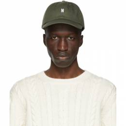 Norse Projects Green Twill Sports Cap N80-0001