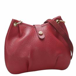Hermes Red Leather Rodeo Bag 364074