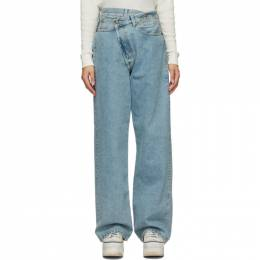 R13 Blue Cross Over Jeans R13W2044-630
