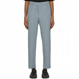 Homme Plisse Issey Miyake Grey Tailored Straight Pleats 1 Trousers HP08JF211