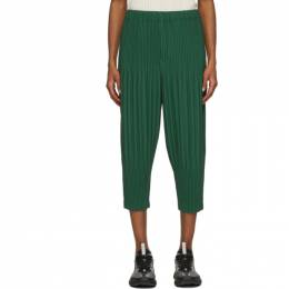 Homme Plisse Issey Miyake Green Tapered Basics Trousers HP08JF210