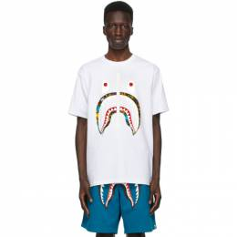 White Bandana Milo Pool Shark T-Shirt 001TEG301053XWHT BAPE