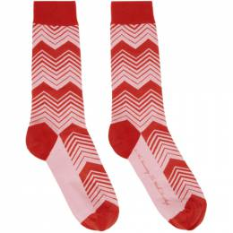 SSENSE Exclusive Jeremy O. Harris Red and Pink Print Socks A0001 SSENSE WORKS
