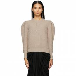 Isabel Marant Grey Wool and Cashmere Robin Puff Sleeve Sweater 21PPU1547-21P029I