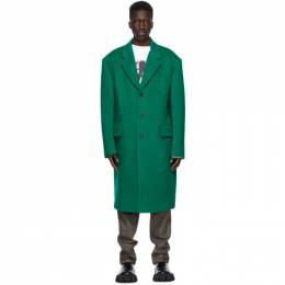 We11Done Green Wool Single Coat WD-CT9-20-056-M-GR