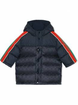 Gucci Kids пуховик с узором GG 616109XWAJG