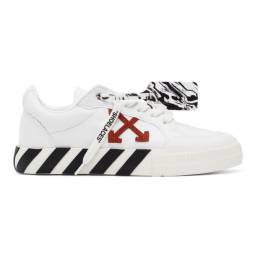 Off-White White Canvas Vulcanized Sneakers OMIA085R21FAB0020116