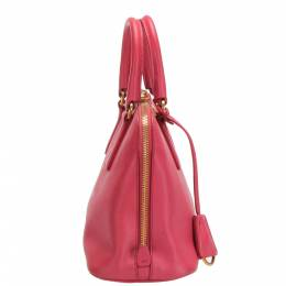 Prada Pink Saffiano Leather Promenade Satchel Bag 365533