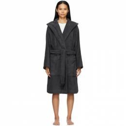 Black Hooded Bathrobe BT-AB Tekla