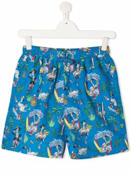 Stella Mccartney Kids плавки-шорты Flamingo Land 602342SQK36