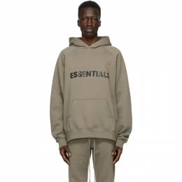 Essentials Taupe Pullover Logo Hoodie 192HO202006F