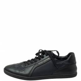 Louis Vuitton Black Nylon and Leather Low Top Sneakers Size 42 371979