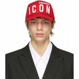 Dsquared2 Red Icon Baseball Cap BCM0412 05C00001