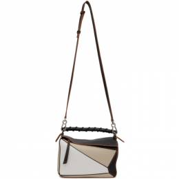 Loewe Beige and Black Grained Small Puzzle Bag A510S21X15