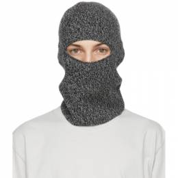 John Elliott Grey Wool and Cashmere Balaclava K011P58771A