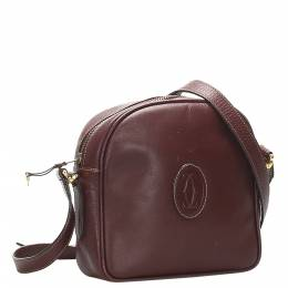 Cartier Red Leather Must de Cartier Crossbody Bag 369466