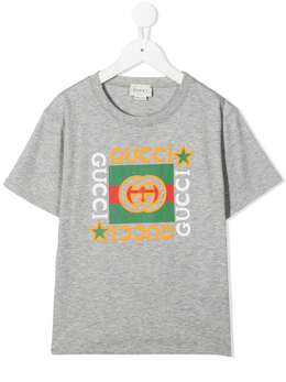 Gucci Kids футболка с логотипом 586167XJCPU