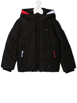 Tommy Hilfiger Junior пуховик с логотипом KB0KB05982