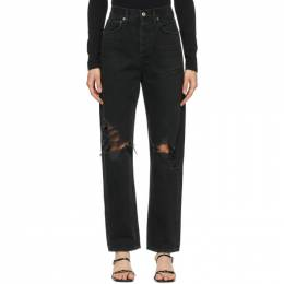 Agolde Black 90s Mid-Rise Loose Fit Jeans A069B-998