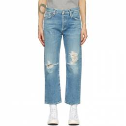 Citizens of Humanity Blue Emery High-Rise Crop Jeans 1766-769