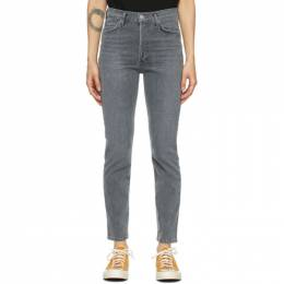 Citizens of Humanity Grey Olivia High-Rise Slim Jeans 1728-1288*