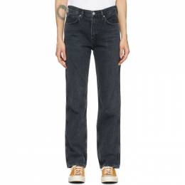 Citizens of Humanity Black Daphne High-Rise Stovepipe Jeans 1903-1134