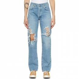 Citizens of Humanity Blue Emery Mid-Rise Relaxed Jeans 1912-1254