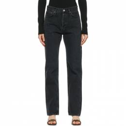 Agolde Black Lana Low-Rise Vintage Straight Jeans A140-1157