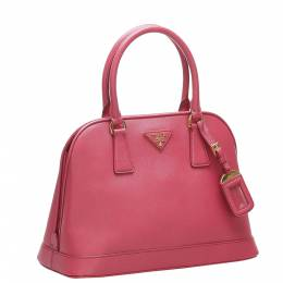 Prada Pink Saffiano Leather Satchel Bag 369660