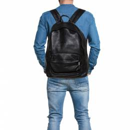 Coach Black Leather Campus Backpack 372911