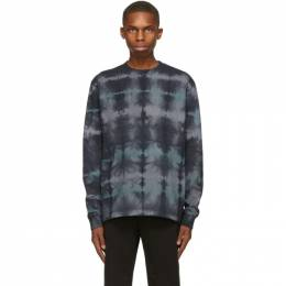 John Elliott Blue Hand-Dyed University Long Sleeve T-Shirt A189M45663A