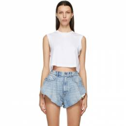 T by Alexander Wang White Foundation Muscle Tank Top 4CC2201153