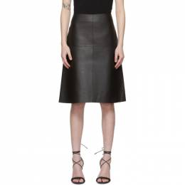 Toteme Black Leather Double Sided Skirt 211-322-714